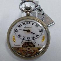 Hebdomas 8-day Open Face Swiss Pocket Watch, 1912