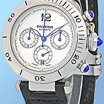 "Cartier ""Pasha 38mm"" Chronograph Strapwatch."
