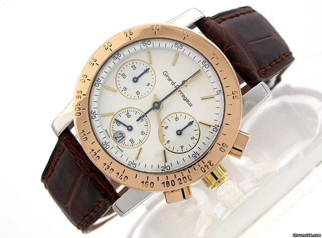 Girard Perregaux &amp;#34;Chronograph&amp;#34; Stahl/18K/750 , Gewicht 51,3 g