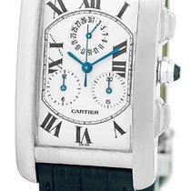 "Cartier ""Tank Americaine"" Chronograph Strapwatch."