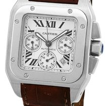 "Cartier ""Santos 100 Chronograph XL"" Strapwatch."