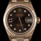 Rolex 18k R/G Unworn O/P Dia Star Dial Datejust Ladies B&P...