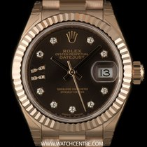 Rolex 18k R/G Unworn O/P Dia Star Dial Datejust Ladies B&P...