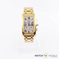 Cartier Tank Americaine Jumbo chronograph yellow gold