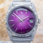 Bulova Super Seville Day Date S.steel Automatic Watch 80s Scx339