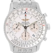 Breitling Navitimer Chronograph Silver Dial Steel Watch A23322