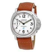 Panerai Luminor Marina White Dial Men's Hand Wound Watch