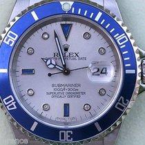 Rolex Submariner Mens Watch Diamonds Sapphire Slate Dial Blue...