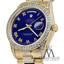 Rolex Presidential Day Date 36mm Blue Color Roman Diamond...