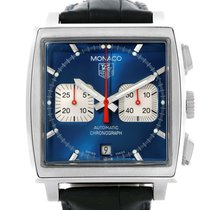 TAG Heuer Monaco Automatic Chronograph Blue Dial Mens Watch...