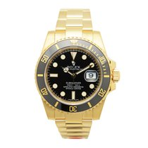 Rolex Submariner(date) 18 K Yellow Gold Black Automatic 116618LN