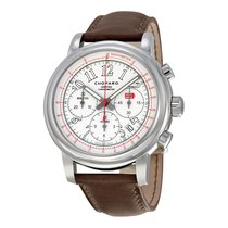 Chopard Mille Miglia Chronograph White Dial Brown Leather Mens...