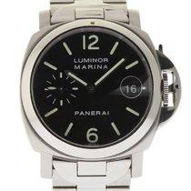 Panerai Luminor Marina PAM00050 40mm Steel Black Dial Box/Pape...