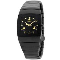 Rado Sintra Quartz Black Dial Black Ceramic Ladies Watch...