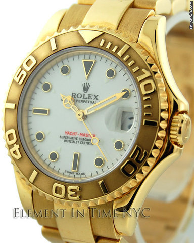 Rolex Yacht-Master Mid-Size 18kt Yellow Gold