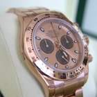Rolex Daytona Rose Gold Pink Dial New 2014 - 116505