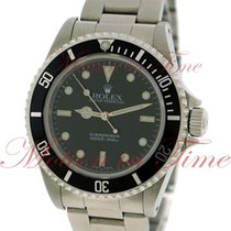 Rolex Submariner No-Date, Black Dial - Stainless Steel on...