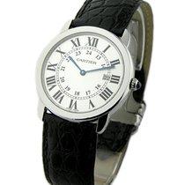Cartier W6700255 Ronde Louis Cartier in Steel - on Black...