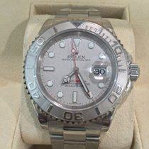 Rolex YACHT MASTER STEEL PLATINUM BEZEL AND DIAL