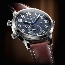 Patek Philippe [NEW][RARE] 5524G-001 Calatrava Pilot Travel...
