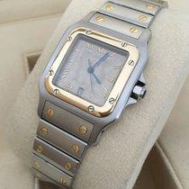 Cartier Santos Gold Steel Special Beige Roman Dial (40 x 28 mm)