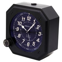 Breitling Table Alarm Clock Mechanical 8-Days Stainless Steel...
