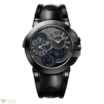 Harry Winston Ocean Dual Time Black Edition Black PVD Stainles...