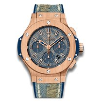 Hublot Big Bang Jeans 44mm Automatic 18K Rose Gold Mens Watch...