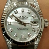 Rolex Lady-Datejust 26 179239 White Mother of Pearl Diamond