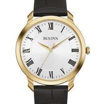 Bulova Mens Classic Watch - Silver/White Dial - Gold-Tone -...