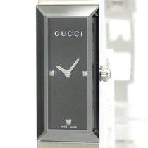 Gucci Polished Gucci G Frame 127.5 Diamond Steel Quartz Ladies...