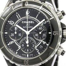Chanel Polished Chanel J12 Chronograph Ceramic Rubber Automati...