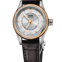 Oris Big Crown Pointer Date 29mm Case, Silver, Leather
