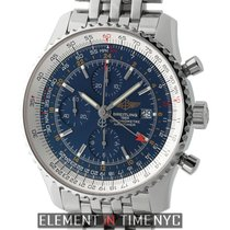 Breitling Navitimer Navitimer World 46mm Stainless Steel Blue...