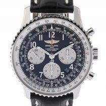 Breitling Navitimer 01 Chronograph Stahl Automatik Kroko Falt...