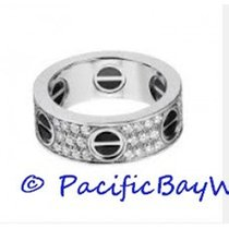 Cartier Love ring in White Gold with paved diamonds