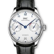 IWC IW500705 Portuguese 7 Day Automatic in Steel - on Black...