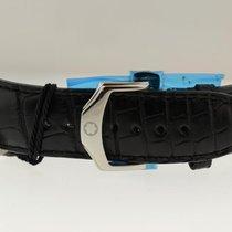 Montblanc Original  Black Croc Leather Strap W/ Steel Deployme...