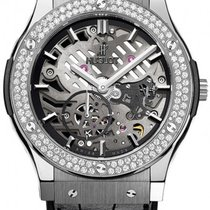 Hublot [NEW] CLASSIC FUSION AEROFUSION TITANIUM DIAMONDS MOON...