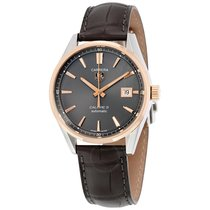 TAG Heuer Carrera Automatic Anthracite Dial Brown Leather...