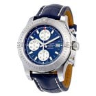 Breitling Colt Chronograph Automatic Blue Dial Blue Leather...