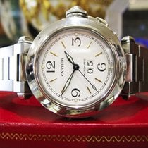 Cartier Pasha Ref. 2475 Stainless Steel 35mm White Dial Watch