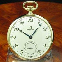 Omega 14kt 585 Gold Open Face Taschenuhr Von Ca. 1929 /...