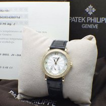 Patek Philippe 4959J Yellow Gold Calatrava MOP Diamond Dial...