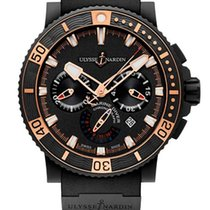 Ulysse Nardin Diver Black Sea Chronograph Stainless Steel...