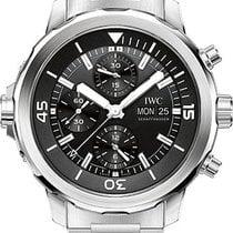 IWC Aquatimer Chronograph Stainless Steel Black Dial Bracelet