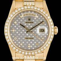 Rolex 18k Y/G Rare Pleiade Dial Diamond Set Day-Date B&P...