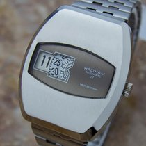 Waltham Rare 1960s Mens Mechanical Digital Automatic Stainless...