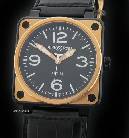 Bell &amp;amp; Ross Pink Gold and Carbon BR01-91