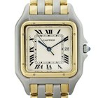 Cartier Panther 3 Row 18k Gold and Stainless Steel Watch